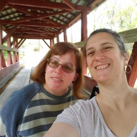 Hanging out at the covered bridge - and taking a short, unplanned hike